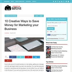 10 Creative Ways to Save Money for Marketing your Business