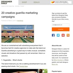 20 creative guerilla marketing campaigns | Design daily news