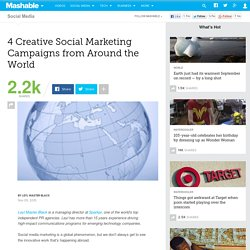 4 Creative Social Marketing Campaigns from Around the World