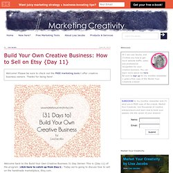 How to Sell on Etsy: Build Your Own Creative Business