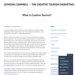 CATRIONA CAMPBELL – the creative tourism marketing specialist