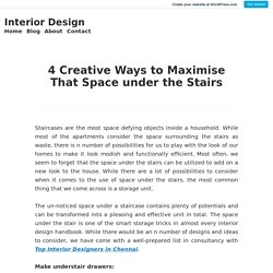 4 Creative Ways to Maximise That Space under the Stairs – Interior Design