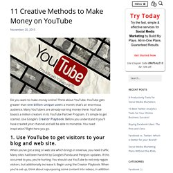 11 Creative Methods To Make Money On YouTube