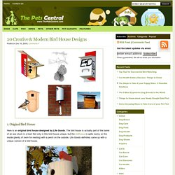 20 Creative & Modern Bird House Designs