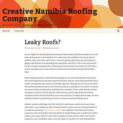 Leaky Roofs? - Creative Namibia Roofing Company