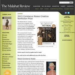 Malahat Review Writing Contest