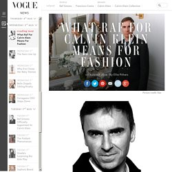 Raf Simons Calvin Klein Chief Creative Officer Commentary