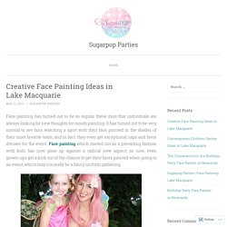 Creative Face Painting Ideas in Lake Macquarie