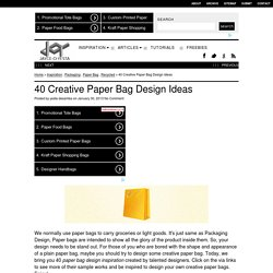 40 Creative Paper Bag Design Ideas