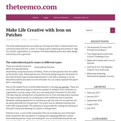 Make Life Creative with Iron on Patches