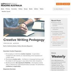 Creative Writing Pedagogy - Reading Australia