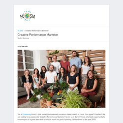 Ecosia - Jobs: Creative Performance Marketer - Apply online