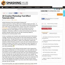 40 Creative Photoshop Text Effect Tutorials 2012