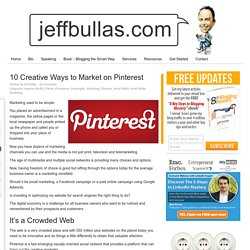 10 Creative Ways to Market on Pinterest