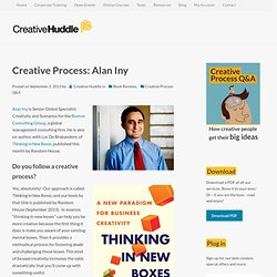 Creative Process: Alan Iny