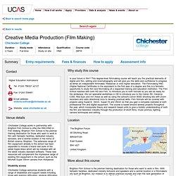 Creative Media Production (Film Making) - Summary