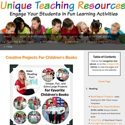 Creative Projects For Children's Books: Fun Projects and Reading Activities