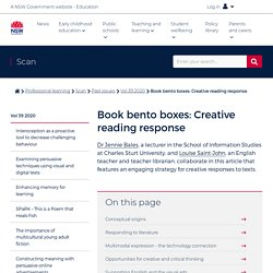 Book bento boxes: Creative reading response