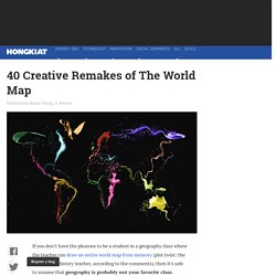 40 Creative Remakes of The World Map - Hongkiat