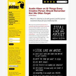 Austin Kleon on 10 Things Every Creative Person Should Remember But We Often Forget