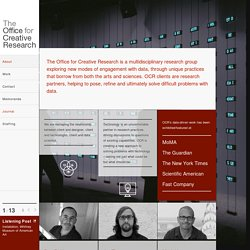 Abstract - The Office For Creative Research