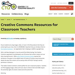 Creative Commons Resources for Classroom Teachers