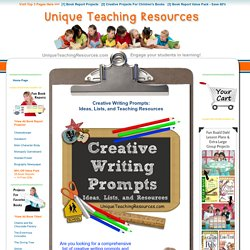 Creative Writing Prompts, Ideas, Lists, and Resources for Elementary Students