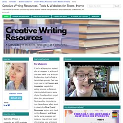 Creative Writing Resources, Tools & Websites for Teens