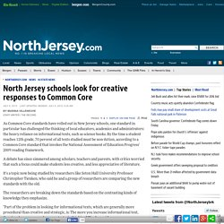 North Jersey schools look for creative responses to Common Core - NJ State News