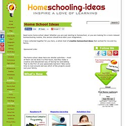 Creative Home School Ideas - Fun Activities for Kids