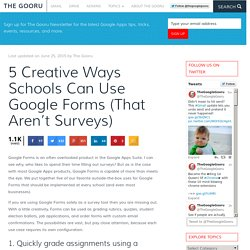 5 Creative Ways Schools Can Use Google Forms (That Aren't Surveys)