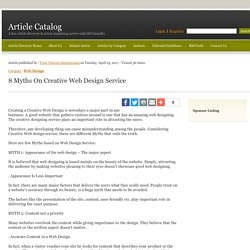 8 Myths On Creative Web Design Service - Article Catalog