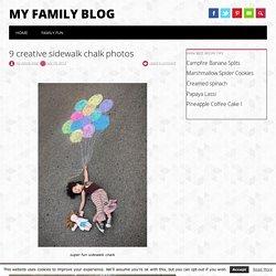 9 creative sidewalk chalk photos - My Family Blog