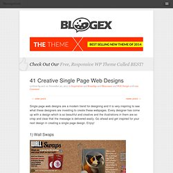 Creative Single Page Web Designs