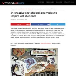 23 creative sketchbook examples to inspire Art students