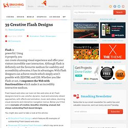 39 Creative Flash Designs - Smashing Magazine