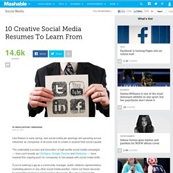 10 Creative Social Media Resumes To Learn From