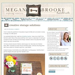Creative Storage Solutions - Megan Brooke Handmade
