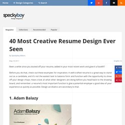 40 Most Creative Resume Design Ever Seen