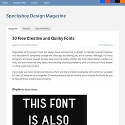 30 Free Creative and Quirky Fonts