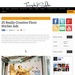 25 Really Creative Floor Sticker Ads
