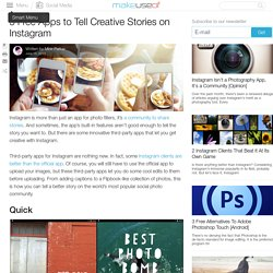 5 Free Apps to Tell Creative Stories on Instagram