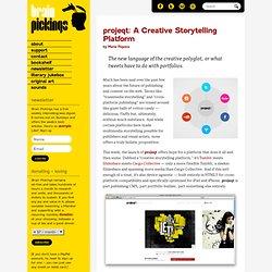 projeqt: A Creative Storytelling Platform