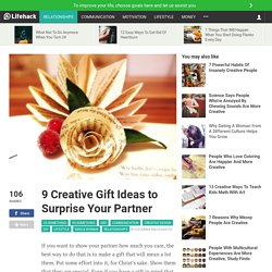 9 Creative Gift Ideas to Surprise Your Partner