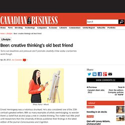 Beer: creative thinking's old best friend