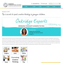 Top 5 Secrets to Creative Thinking in Younger Children - Oakridge.in