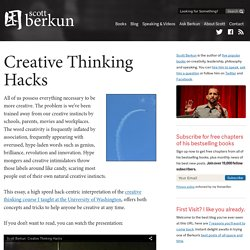 #56 - Creative thinking hacks