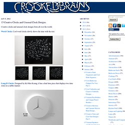 15 Creative Clocks and Unusual Clock Designs.