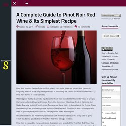 Tips to Prepare Recipes Along With Red Wine
