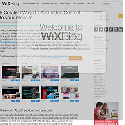 5 Creative Ways to Add Video Content to your Website